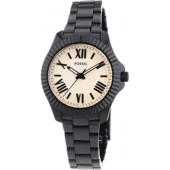 Holzkern Via Appia Olivenholz/Azurblau Holzuhr Herren Damen Uhr Lederband