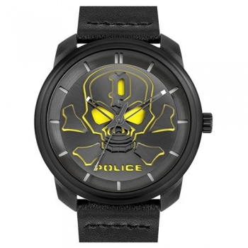 Police PL.15714JSB/02 Herrenuhr Quarz Totenkopf