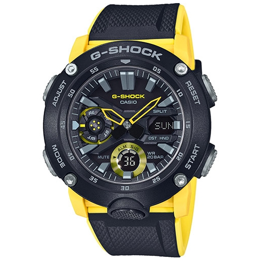 Casio G-Shock GA-2000-1A9ER Herrenuhr Gelb Schwarz