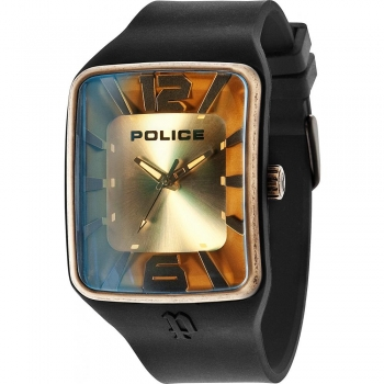 Police PL.14745JPBQG22P Herrenuhr Quarz Silikonuhrband