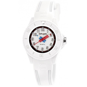 AM:PM PM192-K519  Kinderuhr Weiss Kids
