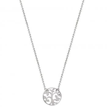 Xenox XS2896 Lebensbaum Halskette Silber