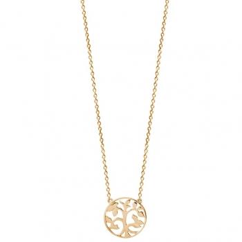 Xenox XS2896G Lebensbaum Halskette Vergoldet