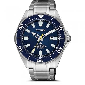 Citizen Eco Drive BN0201-88L Titanium Herrenuhr Divers 200 Meter