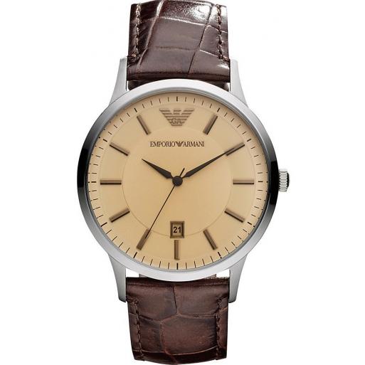 Emporio Armani AR2427 Herren Uhr Klassisch Lederband