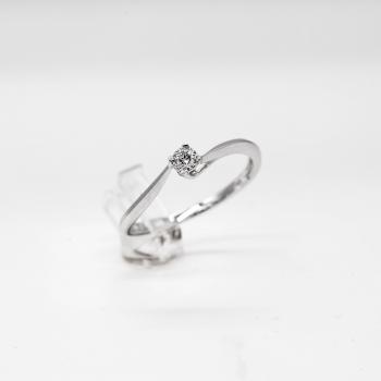 Verlobungsring Weißgold 585 mit Brillanten 0,05 CT Wesselton SI