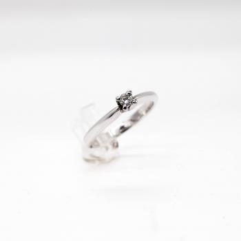 Verlobungsring Weißgold 585 mit Brillanten 0,11 CT Wesselton SI