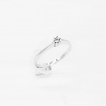 Verlobungsring Weißgold 585 mit Brillant 0,07 CT Wesselton SI