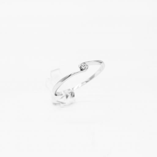Verlobungsring Weißgold 585 mit Brillant 0,05 CT Wesselton SI
