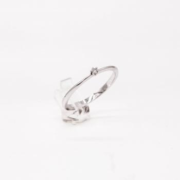 Verlobungsring Weißgold 585 mit Brillant 0,03 CT Wesselton SI