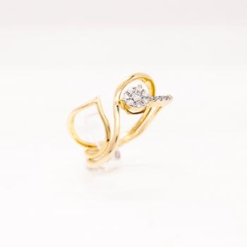 Damenring Gelbgold 585 mit Brillanten 0,21 CT Wesselton SI