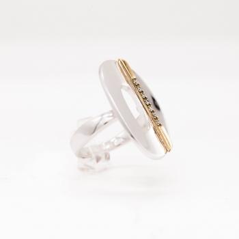 Damenring Weißgold 585 mit Brillanten 0,07 CT Wesselton SI
