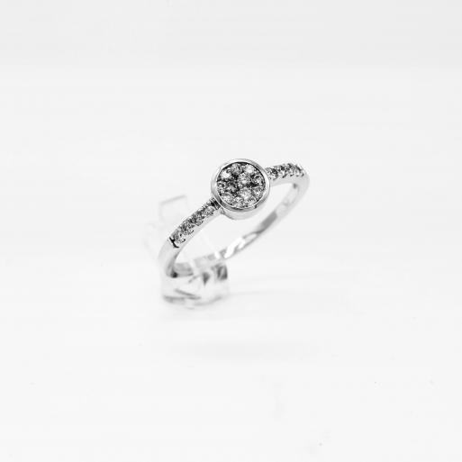 Verlobungsring Weißgold 585 mit Brillanten 0,35 CT Wesselton Pique