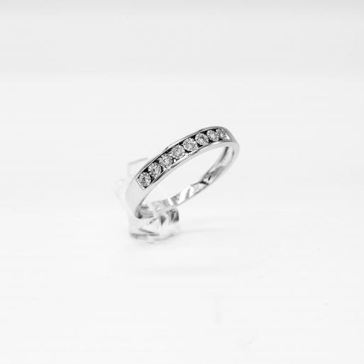 Verlobungsring Weißgold 585 mit Brillanten 0,07 CT Wesselton SI