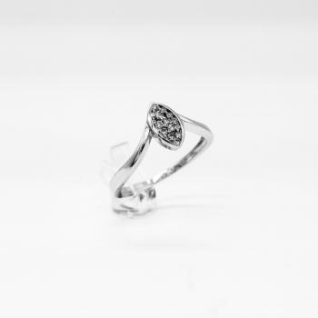 Verlobungsring Weißgold 585 mit Brillanten 0,20 CT Wesselton Pique