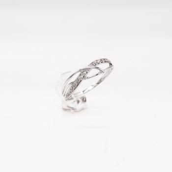 Damenring Weißgold 585 mit Brillanten 0,03 CT Wesselton SI