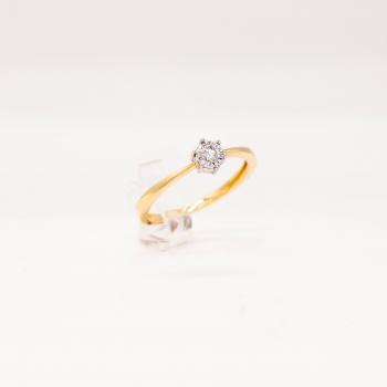 Verlobungsring Gelbgold 585 mit Brillant 0,10 CT Wesselton SI