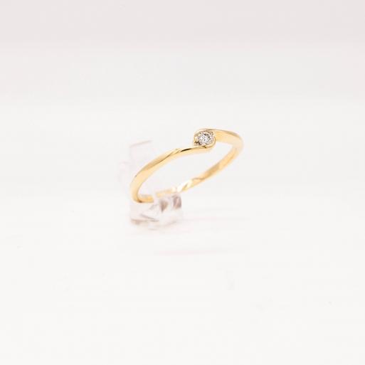 Verlobungsring Gelbgold 585 mit Brillant 0,05 CT Wesselton SI