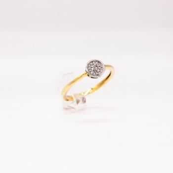 Verlobungsring Gelbgold 585 mit Brillanten 0,09 CT Wesselton SI