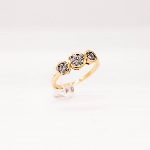 Verlobungsring Gelbgold 585 mit Brillanten 0,50 CT Wesselton Pique