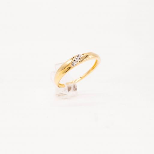 Verlobungsring Gelbgold 585 mit Brillanten 0,05 CT Wesselton SI
