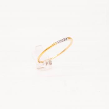 Verlobungsring Gelbgold 585 mit Brillanten 0,03 CT Wesselton SI
