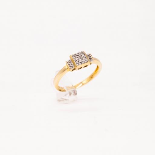 Verlobungsring Gelbgold 585 mit Brillanten 0,07 CT Wesselton Pique