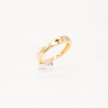 Damenring Gelbgold 585 mit...