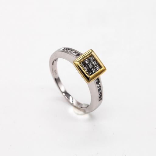 Damenring Weißgold 585 mit Brillant 0,50 CT Wesselton SI