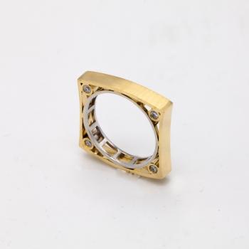 Damenring Gelbgold 585 mit Brillanten 0,31 CT Wesselton Pique