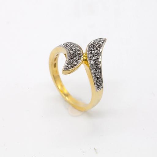 Damenring Gelbgold 585 mit Brillanten 0,25 CT Wesselton SI