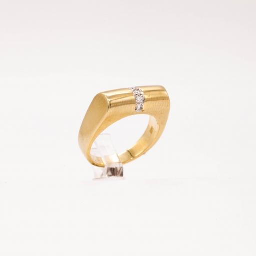 Damenring Gelbgold 585 Massiv mit Brillanten 0,50 CT Wesselton Pique