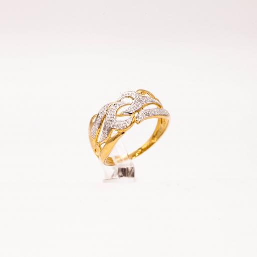 Damenring Gelbgold mit Brillanten 0,013 CT Wesselton SI