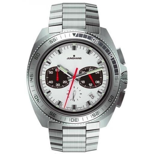 Junghans Chrongraph 041/4262.44 Herrenuhr Quarz Stahl Uhrband