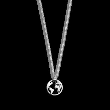 Xenox Wanderlust Weltkugel Halskette Silber XS3160