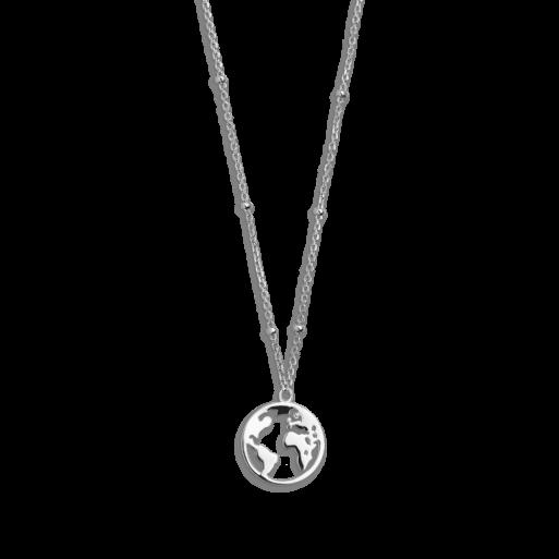 Xenox Wanderlust Weltkugel Halskette Silber XS2984