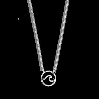 Xenox Wanderlust Welle Halskette Silber XS3173