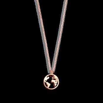 Xenox Wanderlust Weltkugel Halskette Rosé XS3160R