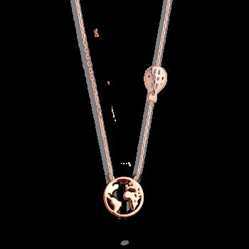 Xenox Wanderlust Weltkugel Halskette Heißluftballon Rosé XS3177R