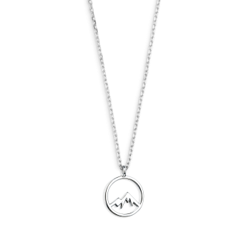 Xenox Wanderlust Berg Gipfel Halskette Silber XS3175