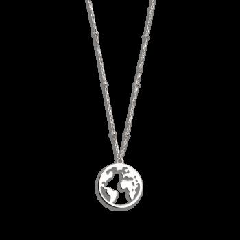 Xenox Wanderlust Weltkugel Halskette Silber XS2985