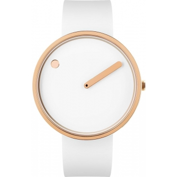 PICTO 43383 Damenuhr Herrenuhr white/IP roségold Designeruhr