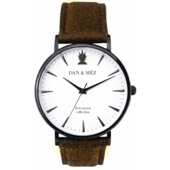 Dan & Méz 1st Season Brown Men Herrenuhr Vegan Saphirglas