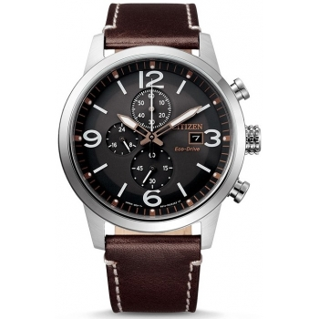 Citizen Eco Drive CA0740-14H Herrenuhr Chronograph Lederband