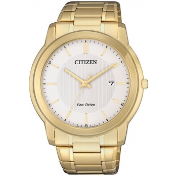 Citizen Eco Drive AW1212-87A Herrenuhr Klassik Gold