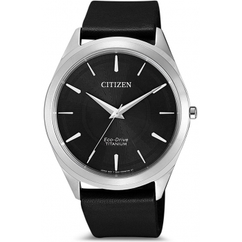 Citizen Eco Drive BJ6520-15E Herrenuhr Klassik Titan Solar Lederband