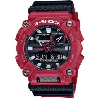 Casio G-Shock GA-900-4AER Herrenuhr Rot Shock Resistant