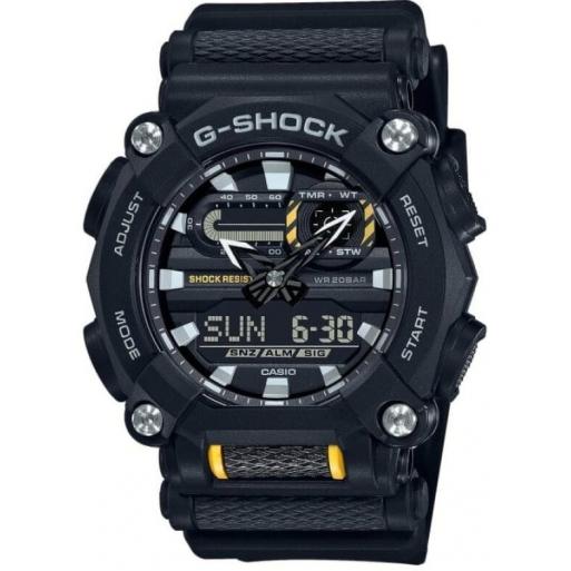Casio G-Shock GA-900-1AER Herrenuhr Black Shock Resistant