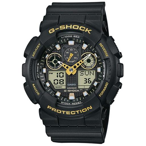Casio G-Shock GA-100GBX-1A9ER Herrenuhr Black Gold Shock Resistant