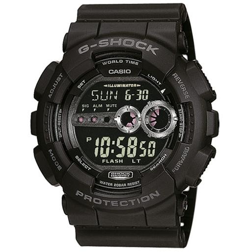 Casio G-Shock GD-100-1BER Herrenuhr Black Shock Resistant